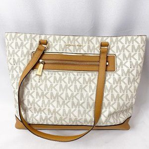 Michael Kors Frame Out Large North/South Signature Tote